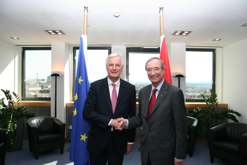 President Leitl meeting with Michel Barnier