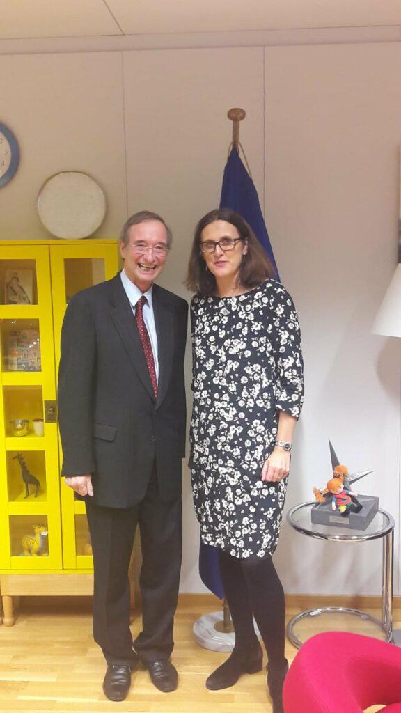 President Leitl meets Trade Commissioner Cecilia Malmström, 06/12/2018