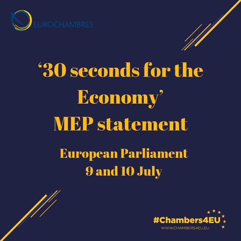 EUROCHAMBRES 30s4Economy – MEP Statement