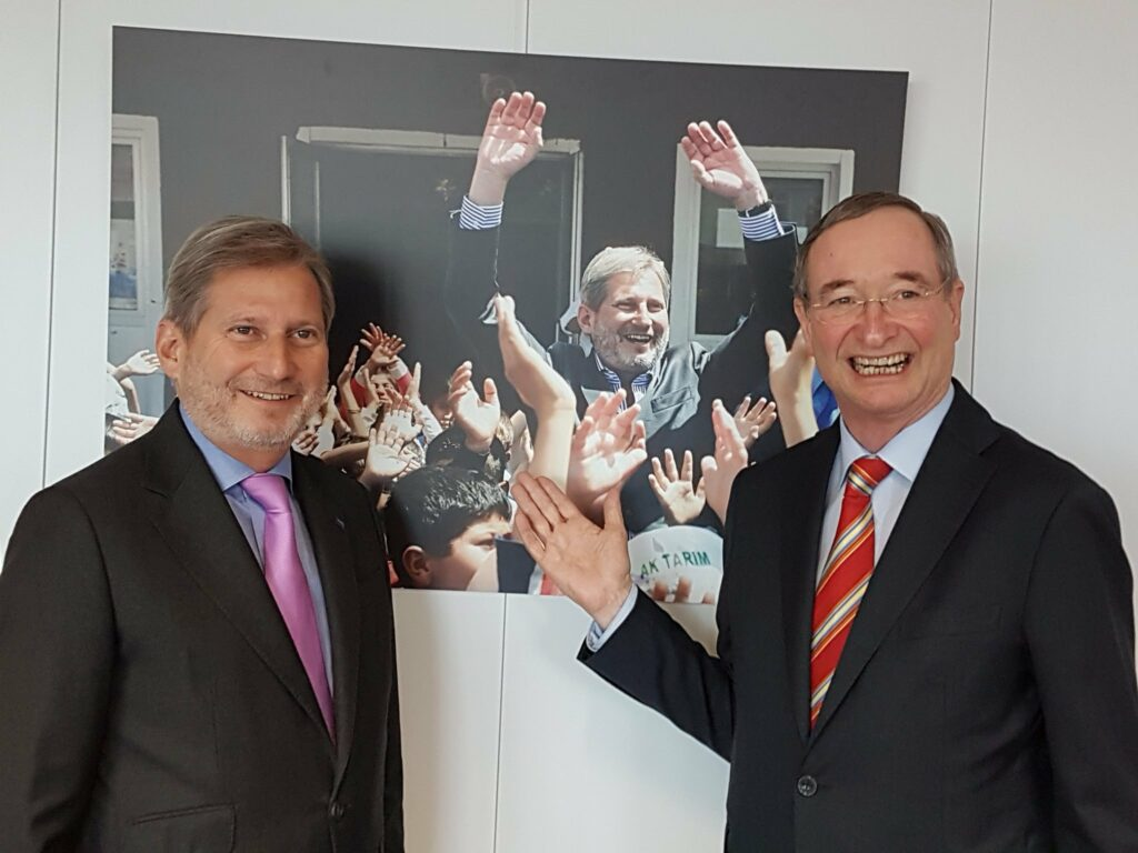 Meeting with EC Commissioner Johannes Hahn