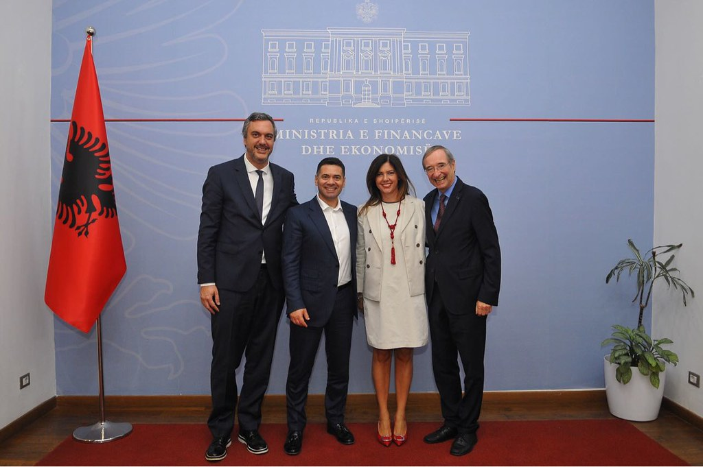 President Leitl meeting with Minister of Finance and Economy of Albania, Arben Ahmetaj 14-09-18