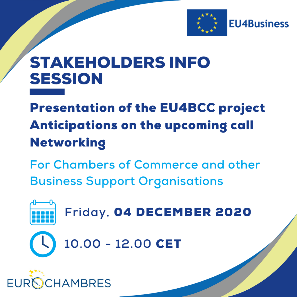 EU4BCC Info Session for Stakeholders