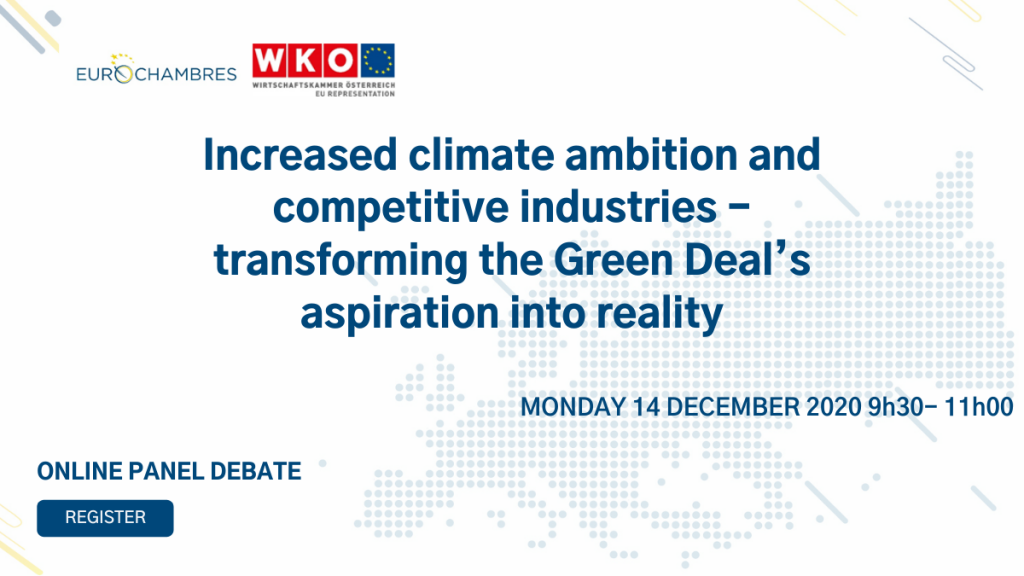 Increased climate ambition and competitive industries – transforming the Green Deal's aspiration into reality