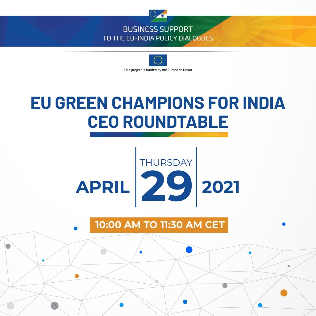 EU Green Champions for India – CEO Roundtable