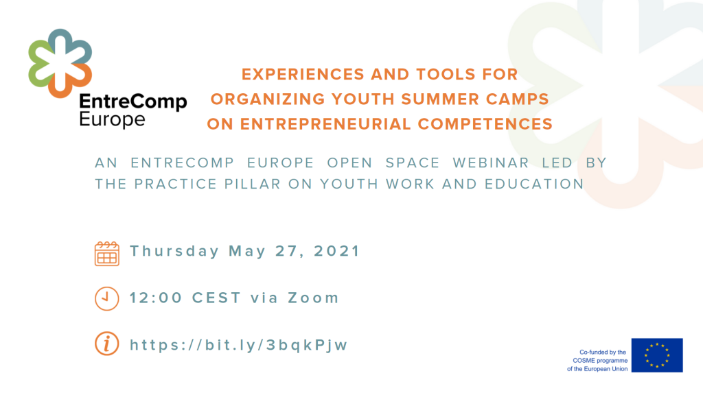 Experiences and Tools for Organizing Youth Summer Camps on Entrepreneurial Competences