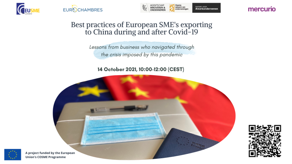 BEST PRACTICES OF EUROPEAN SME'S EXPORTING TO CHINA DURING AND AFTER COVID-19: LESSONS FROM BUSINESS WHO NAVIGATED THROUGH THE CRISIS IMPOSED BY THIS PANDEMIC